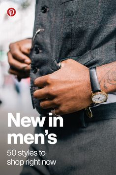"The Pinterest Shop is the place to find hundreds of top brands and unique boutiques. Shop our exclusive Men's collection, with 50 looks handpicked by our very own editors. When you see something you love, tap ""Buy it"" and it's yours in 60 seconds or less, without ever leaving the app. Happy shopping!"