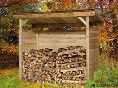 Petit abri de rangement en bois pour vos bûches, vos poubelles ou encore vos vélos.