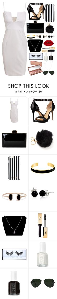 Black & White by ale-needam on Polyvore featuring MICHAEL Michael Kors, Chanel, VANINA, Bling Jewelry, Ray-Ban, Cara, Essie, Urban Decay, white and black