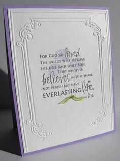 stamping up north: religious cards