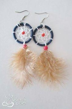#earrings #dreamcatcher #blue #red #white