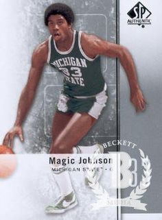2011-12 Upper Deck SP Authentic Basketball #10 Magic Johnson Michigan State Spartans NCAA Trading Card
