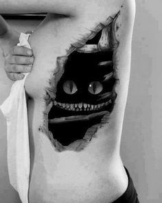 Cheshire cat tattoo wonderland