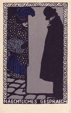Postkarte no. 66 Moriz Jung. ART & ARTISTS: Wiener Werkstätte postcards – part 1