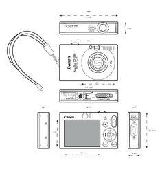 Orthographic Drawing (digital camera)