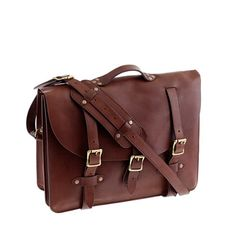 Montague leather satchel