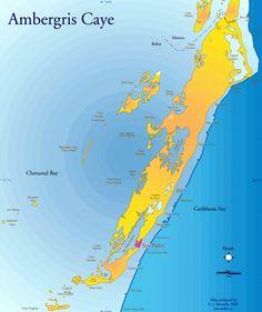 Ambergris Caye Mazzullo Map