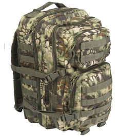 Mil-Tec Rucksack US Assault Pack, groß, Mandra wood / mehr Infos auf: www.Guntia-Militaria-Shop.de