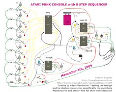 Atari Punk 8 Step Sequencer Schematic