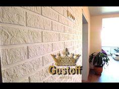 Штукатурка под кирпич белый 22Х6см нанесение. Bricks from plaster - YouTube