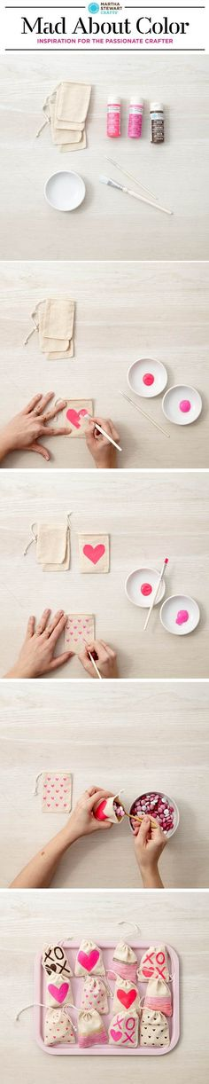 DIY Valentine's Day Treat Bags from #marthastewartcrafts