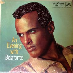 Glittered Vintage Harry Belafonte An Evening With Belafonte Vinyl Record Album on Etsy, $75.00