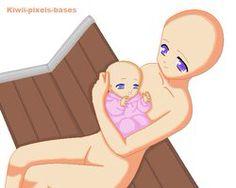 Anime mum and baby base model