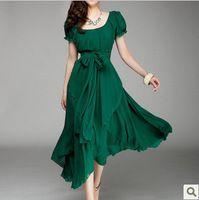 NewFashion 2014 Long Plus Size Maxi Dresses Bohemian Dress Plus Size Boho Chic Dress To The Floor Green Red Black For Women Wear