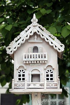Ornate Birdhouse-loving the fretwork on the roof...so pwetty....