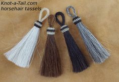 #Horsehair tassels natural or bold  dyed colors  4 by Knotatail.com http://knot-a-tail.com/catalog/16