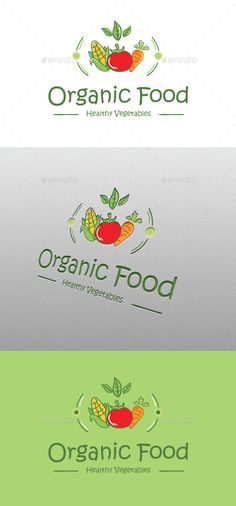 Organic #Food #Logo - Food Logo Templates Download here: https://graphicriver.net/item/organic-food-logo/19722495?ref=alena994