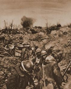 French troops consolidate a captured position Verdun 1917
