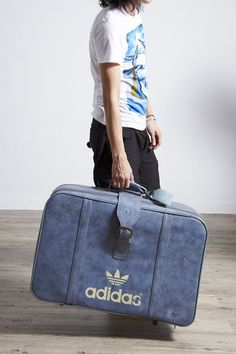 #Blue Adidas Vintage Suit Case!