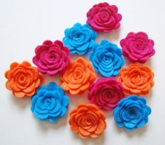 Trendy Felt Flower Rose Bright Flower Collection by sweetiefluhr, $5.99