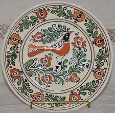 Szekely Transilvanian KOROND Hungarian Folk Art Pottery Plate NEW Bird 9 1/2 Pottery Plates, Pottery Art, Alien Concept, Vintage Beauty, Folklore, Hungary, Vintage Shops, Ethnic, Decorative Plates