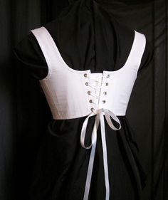 Regency Short Stays Cotton Corset Half Stays Historical Austen Era Underpinning…