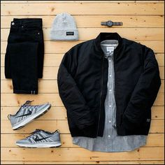 Outfit grid - Navy and grey