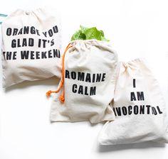DIY Farmers Market Bags | Puns Twinspiration