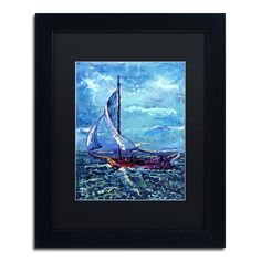 Flying-Fish Weather by Lowell S.V. Devin Matted Framed Painting Print