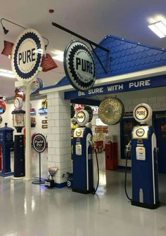 Vintage Re-created Pure Gas / Service Station