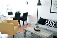 Living room - touch of yellow