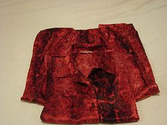 Frederick's Of Hollywood Red Snakeskin Pajama Set Size