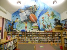 middle School Library Murals | Here is the new mural in the South Valley Library