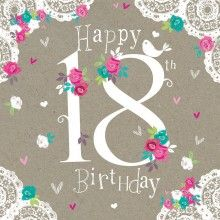 Birthday Card - Happy 18th Birthday
