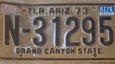 1973 Arizona Vintage Trailer License Plate Grand Canyon State | eBay