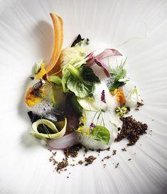 """Into the Vegetable Garden"", le plat signature du chef californien David Kinch."