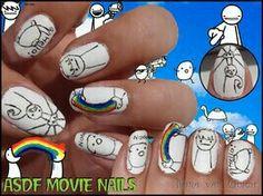 ASDF Movies Nail Art