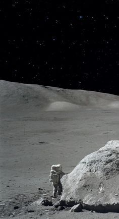 Apollo 17 mission, exploring the moon. #The moon #Apollo 17 astronaut lunomobil. http://www.mindblowingpicture.com/wallpaper/space/wp2tqj47.html