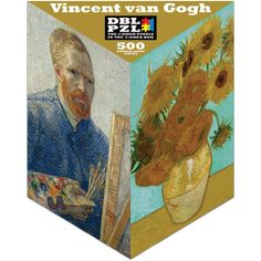 Vincent Van Gogh (Vertical) Flowers Double Sided Puzzle