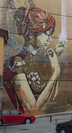 New Mural Detail In Greece by DAL and Faith47