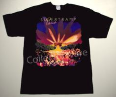 SUPERTRAMP Paris CUSTOM ART UNIQUE T-SHIRT Each T-shirt is individually hand-painted, a true and unique work of art indeed!  To order this, or design your own custom T-shirt, please contact us at info@collectorware.com, or visit http://www.collectorware.com/tees-supertramp_hodgson.htm