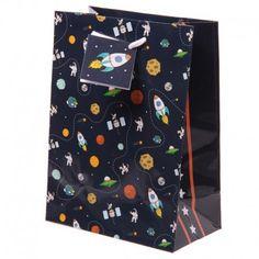 Sac à cadeau - Fusées et planètes - Moyen