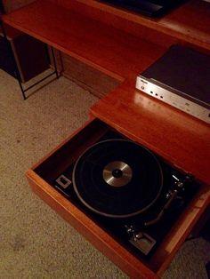 Kurrlson custom audio unit with drawer mount turntable