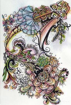 zintangles   Zentangles   lornachristensenillustration