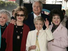 Actors Ann Rutherford, Dianne Baker, left, Jane Powell and Jane Withers attend a ceremony honoring Robert Osborne with a star on Hollywood Walk of Fame February 1, 2006.