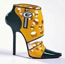 1Green Bay Packer Cheesehead high heel shoes!
