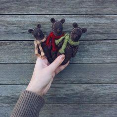 Брошка Мишка — Tildamaniaki handmade игрушки @ LMBD