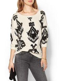 Pam & Gela Lisa Three-Quarter Sleeve Sweatshirt | Piperlime