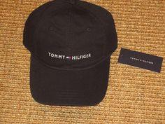 944e54b71367f TOMMY HILFIGER MEN S BASEBALL CAP BLACK SIGNATURE FLAG LOGO SPORT CLASSIC  NEW  TommyHilfiger  BaseballCap  baseballcamps