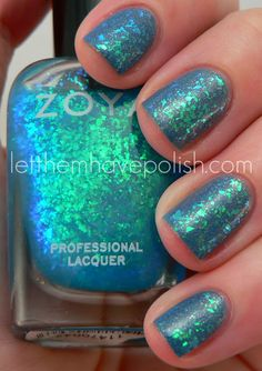 Zoya Fleck Effect Collection Swatches- LOTS of Combos and Photos!! | Let them have Polish!